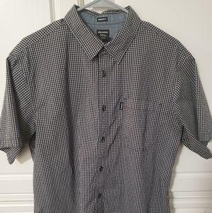 Dickies Mens Short Sleeve Button Down Shirt Size L